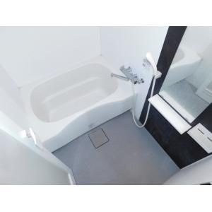 リバレイン 部屋写真3 モノトーンのおしゃれなバスルーム