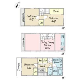 永代2丁目住宅間取り図