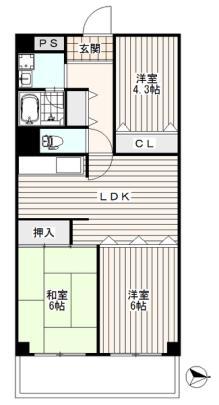 武蔵境ビューハイツ[4階]の間取り