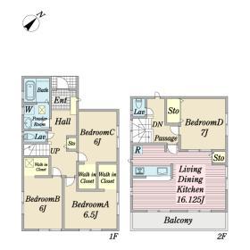 高洲3丁目新築戸建1号棟間取り図間取り