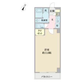 霞町コーポ間取り図大通り沿いのお部屋ではありません。